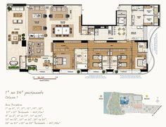 Mansão Wildberger | 460m² | Largo da Vitória | Salvador Apartment Floor Plans, House Floor Plans, Pent House, My House, Architecture Plan, My Dream Home, Living Spaces, Layout, House Design