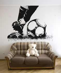 Soccer Wall Murals for Boys Bedroom Ideas Teen boys bedroom ideas