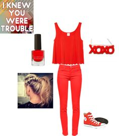 """""""MSG: I knew you were trouble"""" by crystina-leigh on Polyvore"""