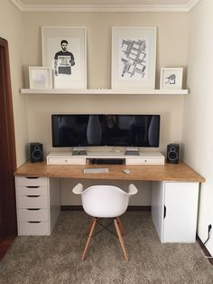 Bedroom Minimalist, Home Tech, Home Office Design, Ikea Home Office, Home Office Setup, Office Workspace, Home Design, Office Ideas, My New Room