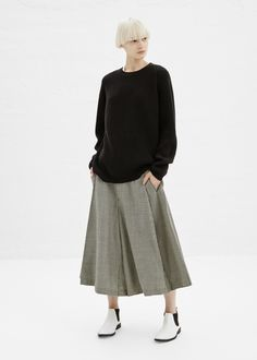 Comme des Garcons COMME Houndstooth Skirt in Black/ Natural #totokaelo #commedesgarcons
