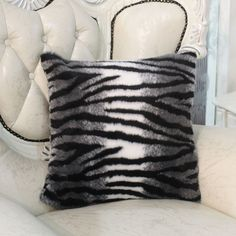 $23 Zebra Pillow Cover, and it's shiny!!