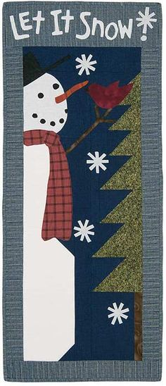 LET IT SNOW WALL QUILT KIT