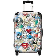 Ikase Super Heroes Polycarbonate 20-inch Carry-on Hardside Spinner Suitcase