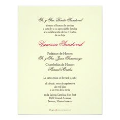 Spanish Quinceanera Invitations