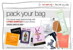 Sephora: Sephora offers complimentary samples with every purchase in order to encourage trial of new products which is intended to influence the purchase of full-size items. This is a franchise-building promotion because it helps to strengthen the brand image of Sephora as the customer's first choice that comes to mind for beauty and hygiene care.