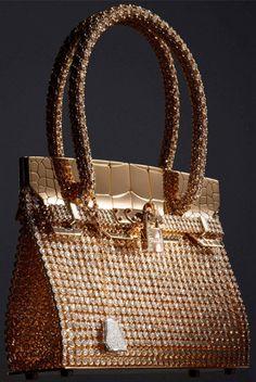 "Hermès Birkin ""sac-bijou"" (mini jewel-encrusted Birkin) in rose and white gold, and 2,712 diamonds at 89.22ct."