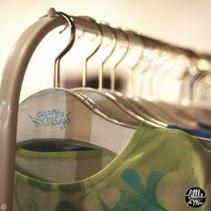on hangers