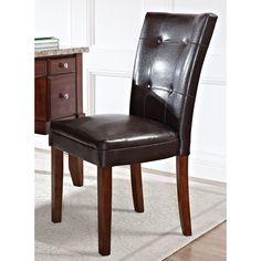 Greyson Living Melbourne Medium Cherry Faux Leather Parsons Chair (Melbourne Parson Chair), Brown