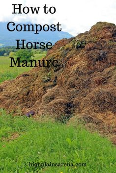 to turn your manure pile into compost, with step-by-step instructions and essential tools.How to turn your manure pile into compost, with step-by-step instructions and essential tools. Paddock Trail, Horse Paddock, Dressage, Horse Manure, Horse Shelter, Farm Plans, Horse Care Tips, Future Farms, Hobby Farms