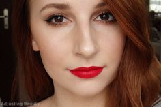 Red Lips Valentine's Day Makeup - Adjusting Beauty