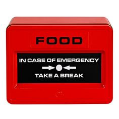 Take A Break Food Tin - From Lakeland, Love this. Might get one for Ed to take to work Emergency Food, In Case Of Emergency, Get One, Take That, Chocolate Brands, Take A Break, Digital Alarm Clock, Kitchen Gadgets, Great Britain