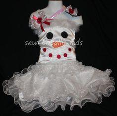 Girls Custom Christmas Dress Pageant Wear OOC by sewtotallykids
