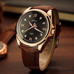 Wristwatch Mens for Diamond Watch Men 2017 Top Brand Luxury Famous Male Clock Leather Wrist Watch Quartz-watch Relogio Masculino