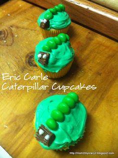 Eric Carle Cupcakes (Caterpillar Cupcake)