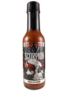 Pleasure and pain play on your palate when you indulge in Mad Dog 357 Scorpion Hot Sauce, an intensely HOT blend of scorpion & ghost peppers, peri-peri chilies, savory spices & sweet sugar cane. Use with caution if you dare. Makes a great gift for a serious hot sauce fan & anyone who claims no hot sauce is hot enough. Buy on sale for $10.95 here: http://www.carolinasauces.com/Mad_Dog_357_Scorpion_Hot_Sauce_p/1098.htm