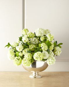 """Snowball Faux Floral Arrangement at Horchow 