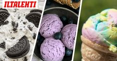 Raikasta mustikkaa, sateenkaaren väreissä hohtavaa vai syntisen herkullista oreo-jäätelöä? Oreo, Delish, Ice Cream, Desserts, Recipes, Food, No Churn Ice Cream, Tailgate Desserts, Deserts