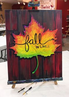 Painting ideas quotes canvases fun 49 ideas - Painting Ideas On Canvas Fall Canvas Painting, Autumn Painting, Diy Canvas Art, Autumn Art, Diy Painting, Painting & Drawing, Fall Paintings, Paintings With Quotes, Canvas Painting Projects