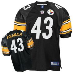 61ff50f47 Pittsburgh Steelers Troy Polamalu  43 Reebok AUTHENTIC 2XL 52 SEWN Jersey   275  Reebok