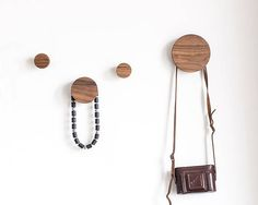 Entryway coat hooks - hallway hooks - wall hooks - modern hooks - entryway hooks - round hooks - wooden knobs - housewarming gift - wood gift ON HOLIDAY UNTIL Dec 29th. All orders will be shipped out after the new year. A beautiful and useful addition to your home. Modern and clean