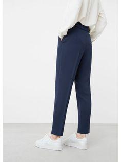 0379607733 MANGO Bow Detail Trouser Navy Trouser Pants, Trousers Women, Straight Leg  Pants, Mango. Superbalist