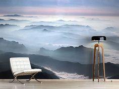 Raumansicht Wohnzimmer Fototapete Die Berge von Laos