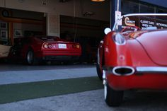 Two amazing cars at Garage 77 in Los Angeles Amazing Cars, Classic Cars, Garage, Carport Garage, Vintage Classic Cars, Garages, Car Garage, Classic Trucks, Carriage House