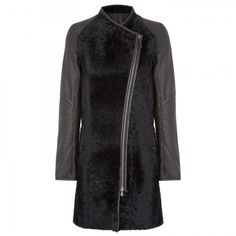 VSP Leather and shearling coat
