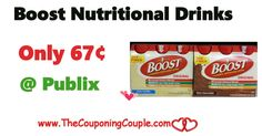 Boost Nutritional Drinks Only $0.67 @ Publix thru 2/8   Boost Nutritional Drinks Only $0.67 @ Publix thru 2/8 [adrotate banner = '51']Boost Nutritional Drinks Only $0.67 @ Publix thru 2/8. At Publix this week we have an unadvertised sale on Boost Nutritional Drinks for $6.99 (reg. price $7.99). In the Publix Weekly Ad valid 2-2 to 2-8-17...  Click the link below to get all of the details ► http://www.thecouponingcouple.com/boost-nutritional-drinks-only-0-67-