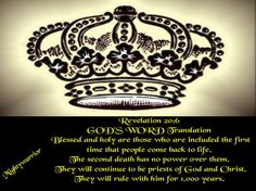 "The Infallible Word of God !!!: Revelation 20:6 ~~~ "" Blessed and Holy """
