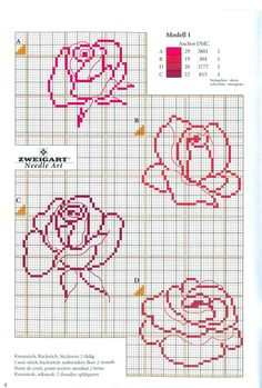 beautiful set of cross stitched roses (Gallery. Cross Stitch Cards, Cross Stitch Borders, Cross Stitch Rose, Cross Stitch Flowers, Cross Stitch Designs, Cross Stitching, Cross Stitch Embroidery, Embroidery Patterns, Cross Stitch Patterns