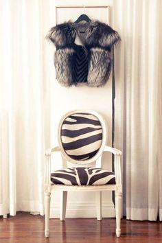 Fur and zebra!