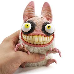 A cute and crazy monster doll that looks a bit like a rabid bunny. So much for cuddly teddy bears :D