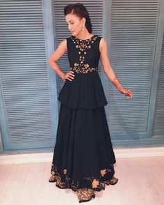 Gauhar Khan in a beautiful outfit by Nikita Mhaisalkar and earrings by House of Shikha Celebrity Outfits, Celebrity Style, Gauhar Khan, Latest Salwar Kameez, Indian Ethnic Wear, Indian Celebrities, Colourful Outfits, Bollywood Fashion, Indian Fashion