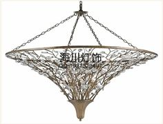 Nordic American country French garden living room restaurant bedroom crystal lamps aisle, wrought iron chandeliers