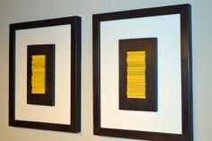 Modern Wood Sculpture Wall Art  Yellow and Brown by moderntextures, $340.00