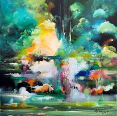 """Many thanks for featuring my work ❤️❤️ ( Featured by Chief curator Rebecca Wilson ) . """" Phantasia Acrylic landscape painting 🖼 in canvas . Fantasy Landscape, Fantasy Art, Scream Art, Saatchi Gallery, Dutch Painters, Dutch Artists, Buy Art Online, Landscape Paintings, Modern Art"""