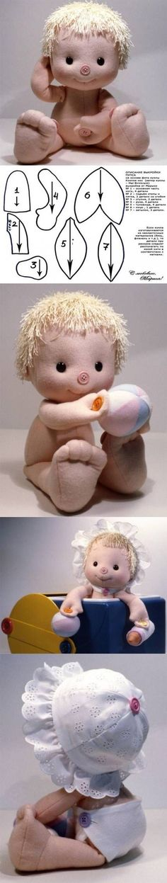 """omg!...this baby doll is """"cute as a button""""....and comes with a FREE pattern, too!!! i have to sew one soon!! i LOVE him!!....:"""
