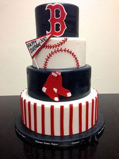 Change the team to the Astros but i like the baseball theme Baseball Birthday Cakes, Baseball Cakes, Red Sox Cake, Cake Pops, Happy Birthday Joe, Baseball Mom, Baseball Party, Baseball Clothes, Baseball Cleats