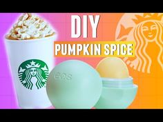 DIY Pumpkin Spice EOS Lip Balm! | Starbucks Inspired 2015 - YouTube