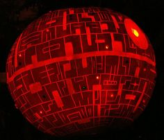 Halloween DIY Projects- Death Star Pumpkin.