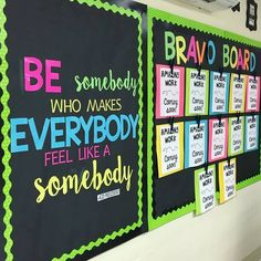 """Kindergarten Lessons & Ideas on Instagram: """"I love this bulletin board made by @emilythirdandgoal . All students need some inspiration throughout the day. """"Be somebody who makes…"""""""