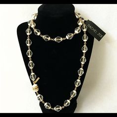 """Authentic Rachel Zoe Crystal Necklace % AUTHENTIC✨ Stunning crystal ball necklace from Rachel Zoe. Yellow gold tone. Length 35 1/2"""" Magnetic closure. Never used. A statement piece. Don't miss it NO TRADE  Rachel Zoe Jewelry Necklaces"""