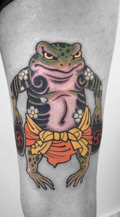 Frog Tattoo in Japanese Style - - Traditional Japanese Tattoo Flash, Traditional Tattoo Animals, Japanese Style, Japanese Tattoo Art, Japanese Sleeve Tattoos, Irezumi Tattoos, Frog Tattoos, Body Art Tattoos, Dibujos Tattoo