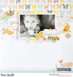 You are my Sunshine *Cocoa Vanilla Studio* by raquel at Scrapbook Layout Sketches, Scrapbook Designs, Scrapbooking Layouts, Kids Scrapbook, Scrapbook Cards, Baby Journal, Studio Calico, Layout Inspiration, Crafty Craft