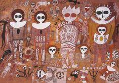 O & quot; Wandjinas & quot; Pinturas rupestres Simbólico e E