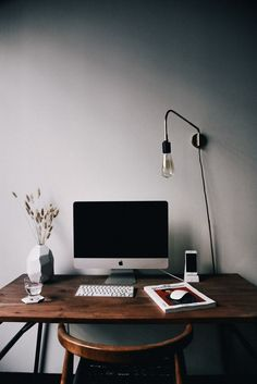 Simple workspace - small desk makes a home office