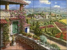 Castello Di Verrazano    - Tile Mural