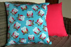 Sleeping Owl Cushion Cover by BlossomvioletCrafts on Etsy